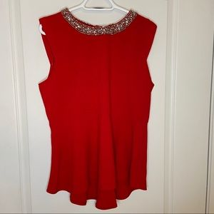 Mandy Evans Red peplum top